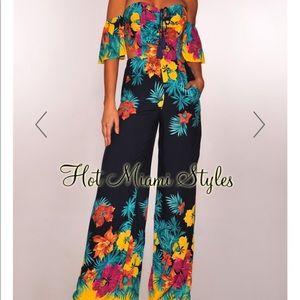 Floral jumpsuit NWT